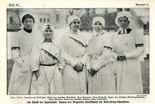 Damen der Belgrader Gesellschaft als Rote-Kreuz-Schwestern Baronin v.Crie...1913