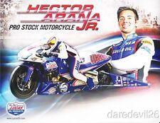 2013 Hector Arana, Jr. Lucas Oil Buell Pro Stock Motorcycle NHRA postcard
