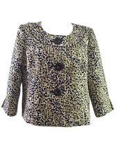 Liz Claiborne Petites Womens Swing Jacket Black White Gold Formal Size14P