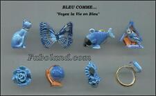 Feves BLEU COMME - VOYEZ LA VIE EN BLEU -DV2125 - Porcelaine 3 cm. environ