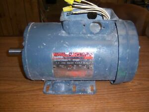Used Reliance Electric 2 HP P14X3237S-QW Electric Motor
