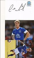 EVERTON * CONOR McALENY SIGNED 6X4 CRESTED WHTE CARD+2 FREE UNSIGNED PHOTOS+COA