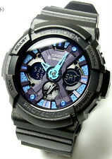 Casio G-Shock Metallic Color Black Blue Men's Watch GA-200SH-2  GA200SH 2