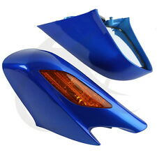 ABS Blue Rear View Mirrors With Orange Turn Signals For Honda ST1300 2002-2011