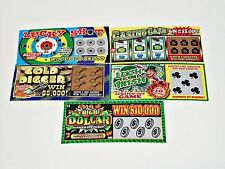 5 Phony Fake Lottery Tickets All Winning Winner Scratch Off Gag Gift Joke Prank