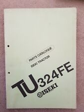 ISEKI TU324FE TRACTOR PARTS CATALOGUE