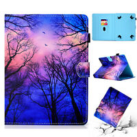 "For 7"" 8"" 10"" Inch Tablet Universal Magnetic PU Leather Printed Case Stand Cover"