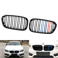 Gloss Black Front Kidney Grille Dual Line M Style for BMW 1 series F20 F21 15-17