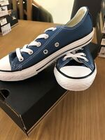 Youths Converse Court Ox Lo Trainers In Blue