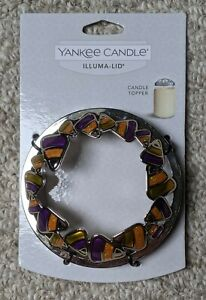 Yankee Candle Illuma-Lid Candle Topper Candy Corn Sweet Treat Fall Halloween