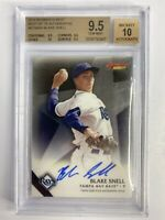 2015 Bowman's Best of '15 Autograph Blake Snell BGS 9.5 9.5 9.5 10 Subs 10 Auto