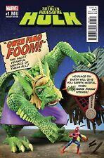 TOTALLY AWESOME HULK 1.MU MONSTERS UNLEASHED GWENSTER FIN FANG FOOM VARIANT NM