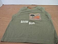 GYMBOREE~Green LITTLE LION Sleeveless SHIRT~Boys 3- 6 months