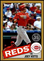 Joey Votto 2020 Topps 1985 35th Anniversary 5x7 Gold #85-34 /10 Reds
