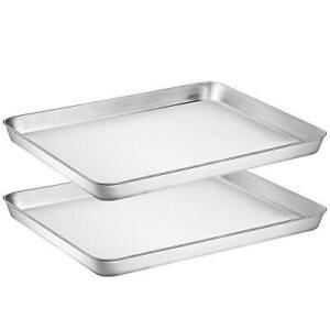 Ribbed Bottoms Oven Dishwasher Safe Nonstick 4 Piece Set Sheet Pan Cooking Gear Gurus Baking Pan Dividers Reinforced Rims Silicone Baking Trays