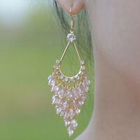 Drop Hook Elegant Bead Tassel Earrings Dangle Long Bohemian Jewelry Women