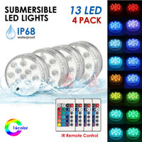 4PCS RGB Underwater LED Disco Light Glow Show Swimming Pool Hot Tub Spa Lamp A+