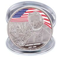 WR Abraham Lincoln Silver Plated Coin US Presidential Souvenir Art Craft GiftsXJ