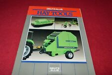 Deutz Allis Hay Tools Dealers Brochure YABE14