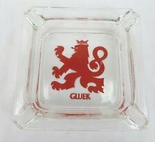 "vintage Gluek Beer 4"" glass ashtray Red Lion paint no issues Minnesota Nice"
