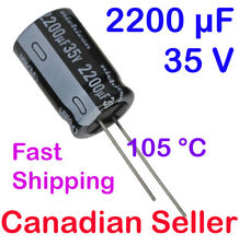 2200uF 35V 16x25mm 105°C HW Nichicon For PC LCD TFT TV AUDIO VIDEO Hi-Fi
