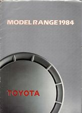Toyota 1983-84 UK Market Brochure Starlet Tercel Corolla Celica Camry Supra