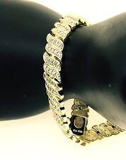 NATURAL DIAMONDS BRACELET TCW 1 yellow rhodium brass women positive energy gift