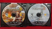 Uncharted 2 + 3 Drake's Deception Thieves - Game Lot Sony PlayStation 3 PS3
