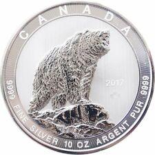 2017 Canada $50 Grizzly .9999 10 Oz Silver Bullion Coin - Rare!!