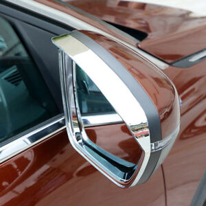 For Peugeot 3008 5008 GT 2017-2019 ABS Chrome Rearview Mirror Eyebrow Cover Trim