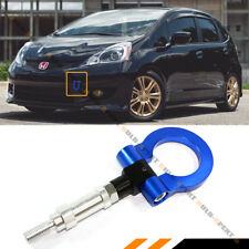 FOR 08-2019 HONDA FIT JAZZ / 2011-2016 CRZ BLUE FRONT FOLDING SCREW ON TOW HOOK