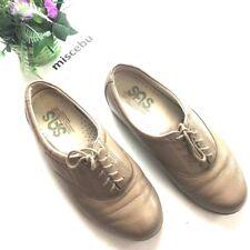 SAS Tripad Women's Size 7.5 WW Comfort Orthopedic Walking Lace Shoes Tan Leather