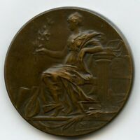 France Bronze Medal by Rivet Woman with Olive Branch 36mm