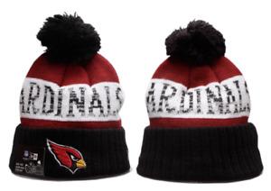 Arizona Cardinals NFL Football Beanie Warm Pom Knit Cap Hat Fleece lined