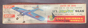 Vintage Carl Goldberg Control Line Balsa Model Plane Li'l Jumpin' Bean. Great!