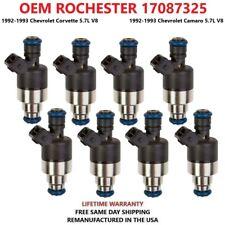 x8 OEM ROCHESTER 17087325 Fuel Injectors For 1992-1993 Chevrolet Corvette,Camaro