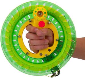 Kite String Reel Winder 400 M Line Spool  Wheel Grip with Lock 9inch Beach Toy
