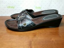 "NEW Women's BASS  Brown leather ""Sofia"" Slide Sandals Size 8.5 M"