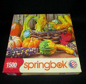 2013 Springbok Harvest Colors Puzzle 1500 Pieces 33-15496