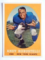 Andy Robustelli #15 Topps 1958 Football Card (New York Giants) VG