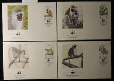 st kitts 1986 Wwf Fdc green monkey animals apes mammals superb used