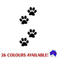 4x 5cm Dog PAW PRINTS car,caravan,trailer,camper decal wall art,window stickers!