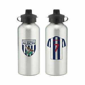 PERSONALISED West Bromwich Albion FC WBA Gifts - Aluminium Water Bottle Official