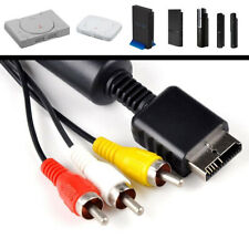 Sony Playstation TV AV Cable PS1 PS2 PS3 Lead Composite Video Audio RCA