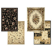 """Transitional Floral Area Rug 8x11 Casual Vines Scrolls Carpet -Actual 7'8""""x10'4"""""""