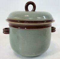 "Vintage 10"" KOOP Signed Lidded Handle Art Studio Pottery Casserole Dish Chamber"