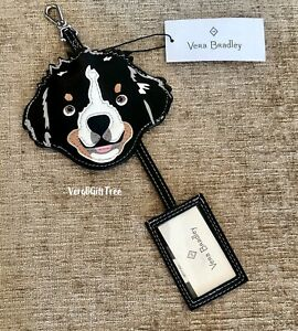 Vera Bradley Whimsy LUGGAGE TAG New BEST IN SHOW Bernese Mountain DOG NWT RARE