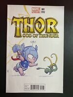 Marvel Comics Thor God of Thunder #1 Skottie Young Variant Cover baby Marvel Now