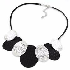 STATEMENT NECKLACE - BLACK & SILVER PLATED  - FREE UK P&P........CG1971