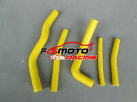 For SUZUKI RM125 RM 125 1996-2000 1997 1998 1999 Silicone Radiator Hose Yellow